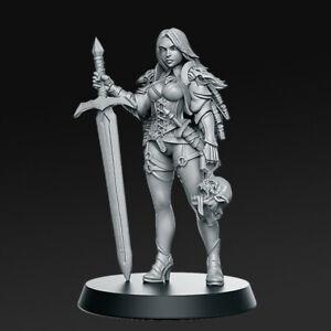 Tabletop Premium Miniature Wizard Warrior Zirila 28mm For Warhammer/ Aos / Dnd