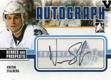 VICTOR STALBERG 2009-10 IN THE GAME HEROES AND PROSPECTS AUTOGRAPHED HOCKEY CARD