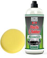 Plastic Rubber Trim Restorer bring back to life bumper shine MotorPower Care