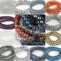 Wholesale 25/50Pcs Czech Glass Round Loose Spacer Beads Jewelry Accessory 8mm