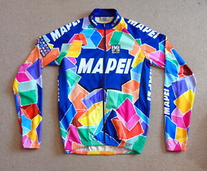 """EXCELLENT COND MAPEI PRO TEAM LONG SLEEVE JERSEY SANTINI XXL 42"""" CIRCUMFERENCE"""