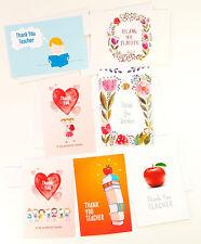 7 Thank You Teacher Greeting Cards for Appreciation Cute Apple Card TEACHER01