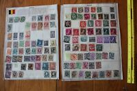 A32 Lot of Belgium Stamps on 3 Minkus binder Pages