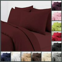 Plain Dyed Duvet Cover Set Cotton Quilt Cover with Pillowcase 18 BRIGHT COLOURS