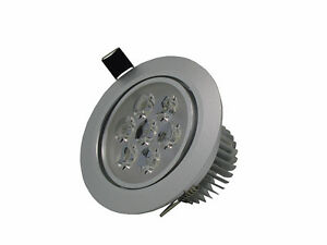 10 x 7W LED Ceiling Light Recessed Downlight Fixture Silver Pure White Lamp