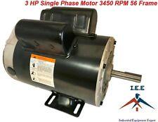"3 HP 3450 RPM Single Phase 56 Frame 230V 15 Amp 5/8"" Shaft NEMA Compressor motor"