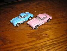 Rare Lot of 2 Kinsmart 1957 Chevy Corvette's with pull back action Free Shipping