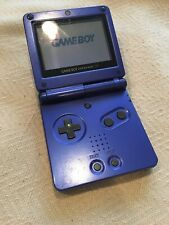 Nintendo Game Boy Advance SP Blue Handheld Model AGS-001 NO Charger No Sound