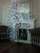 6ft White LED Willow Tree Outdoor Christmas Garden Decoration Pre Lit