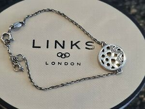 """NEW Links of London Timeless Collection Bracelet 9"""" with Pave Diamonds was £120"""