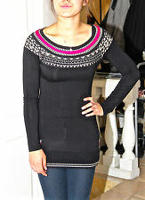 adorable tunic black and rose strechy RINASCIMENTO size 36 i40 MINT