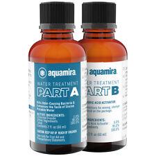 Aquamira tratamiento de purificación de agua y el almacenamiento de botellas de vidrio 2 OZ.