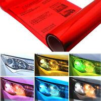 Red Car Headlight Tint Film Taillight Tail Vinyl Wrap Fog Light Films Sticker