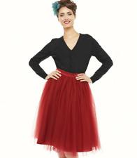 Lindy Bop 'Eddie' Burgundy Skirt UK 20 JS192 DD 01