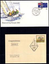Australia 1983 Pair Of Americas Cup Triumph Pre Stamped Envelopes - Mint