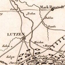 Lutzen Napoléon Bonaparte Premier Empire 1821 Allemagne Großgörschen
