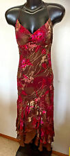 Sue Wong Stunning Beaded Silk Crepe Embellished Print Formal Cocktail Gown  10