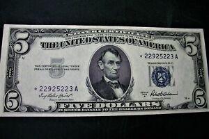 1953 FIVE DOLLAR STAR NOTE CRISP UNCIRCULTED
