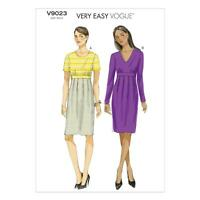VOGUE SEWING PATTERN MISSES' VERY EASY VOGUE FITTED DRESS SIZE 8 - 24 V9023
