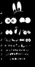 Incorniciato stampa-CARTOON eye's Eye grafico (FOTO POSTER Arte Occhiali OTTICO test