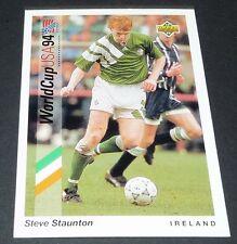 STAUNTON ASTON VILLA IRELAND EIRE FOOTBALL CARD UPPER DECK USA 94 PANINI 1994