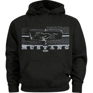 Ford Mustang Grill Hoodie Mens Sweatshirt