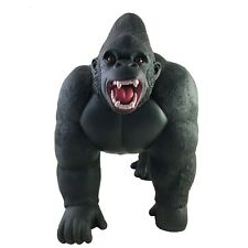 Gigantic Soft Stuffed Rubber Gorilla Play Toy Realistic Details Africa Ape