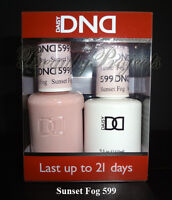 DND Daisy Soak Off Gel Polish Sunset Fog 599 full size 15ml LED/UV gel duo NEW