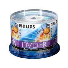 Philips 16X DVD-R 4.7GB Blank Media Pack of 50pcs Premium No Spindle Recordable