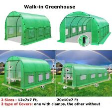 Portable Large 12x7/20x10x7' Walk-In Greenhouse Hot Green House Outdoor Planting
