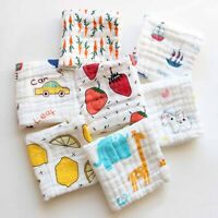 2Pcs Baby Newborn Gauze Muslin Square 100% Cotton Bath Wash Handkerchief bara