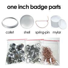 100 x One 1 inch Tecre Badge Button Pinback Machine Parts Supplies 25mm