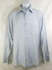 Castello VIP Mens White Blue Button Down Long Sleeve Casual Shirt Size 2XL