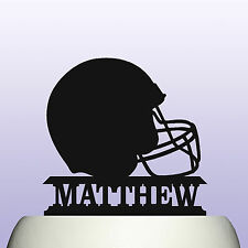 Personalised Acrylic American Football Player Helmet Birthday Cake Topper