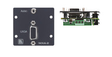 Kramer Wxa-2 (G) Wall Plate 15 Pin & 3.5 Stereo Audio to Terminal Block New