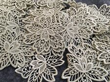 10pcs GoldenBrown Flower Venise Lace Embroidery Applique Motif Costume 5.5*5.9cm