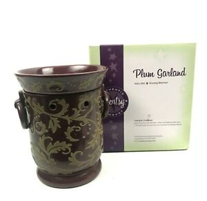 Scentsy Full Size PLUM GARLAND Warmer Full Size in Box  Classic Beauty
