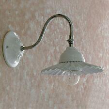 APPLIQUE LAMPADA PARETE CLASSICO ACCIAIO CROMO CROMATO CERAMICA BAGNO SALONE
