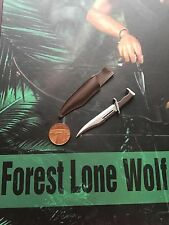 HaoYu Toys Forest Lone Wolf John Rambo Tactical Knife & Sheath loose 1/6th scale
