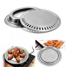 Smokeless Non-stick Stovetop Barbecue BBQ Grill Kitchen Griddle Baking Plate Pan