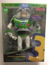 Toy Story 3 (Blu-ray/DVD, Digital HD, 2010, 4-Disc) NEW Target w/Buzz Lightyear