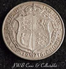 1916 George V .925 Silver Half-Crown Coin Great Britain VF