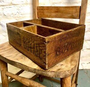 Original Bovril Wood Box Advertising Food Vintage Kitchen Storage