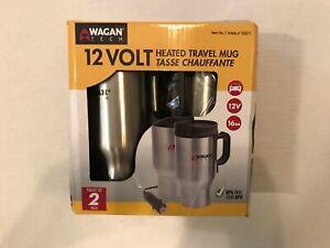 Wagan Tech 12V Heater Travel Mug 16 Oz BPA Free - 2 Pack - Item 2227-1
