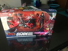 GI Joe Classified Cobra Island Baroness with COIL Motorcycle Target Excl New NIB