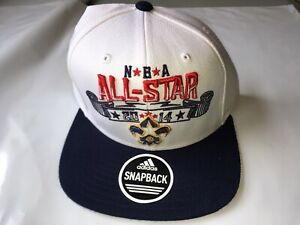 NEW Adidas 2014 NBA All Star Weekend Hat New Orleans Zion Williams White Blue