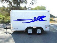 2pc trailer graphics decor camper decals RV vinyl van motor home atv garage pair
