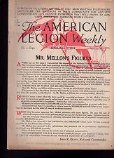 American Legion Magazine Andrew Mellon Treasury Letter Cover February 1 1924