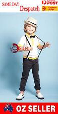 Kids Boys Girl Black Skinny15mm Width Elastic Suspenders Braces 1 to 8 years old