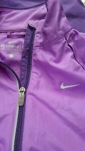 NIKE 12/14 Womens Medium purple STORM-FIT Zip Off sleeve Running Jacket gilet